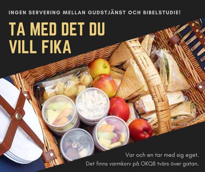 Ta med fika - ingen servering imorgon