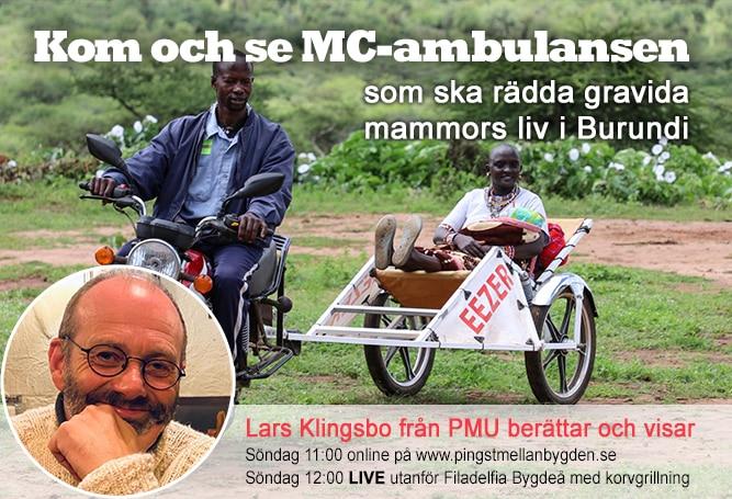 Kom och se MC-ambulansen som ska rädda gravida kvinnors liv i Burundi