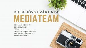 Kom med i vårt nya mediateam!