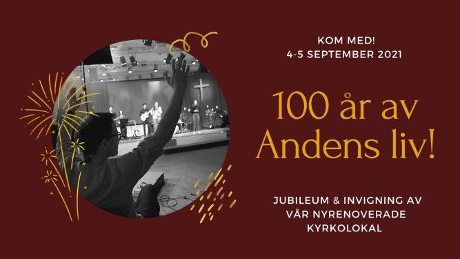 100-årsjubiléum och invigning